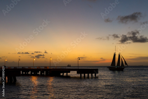 Tuinposter Pier Sunset at Key West, FL