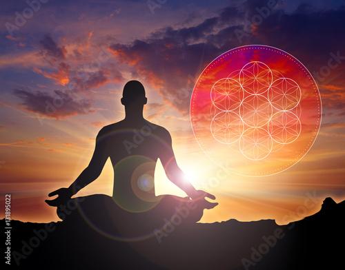 Photo  Meditation sacral symbol