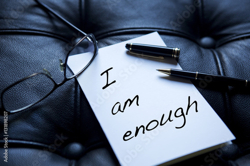 Photo I Am Enough written on paper