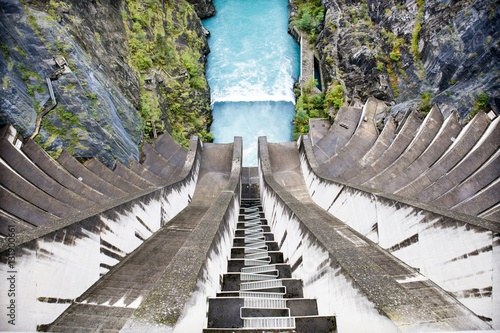 Deurstickers Dam Barrage