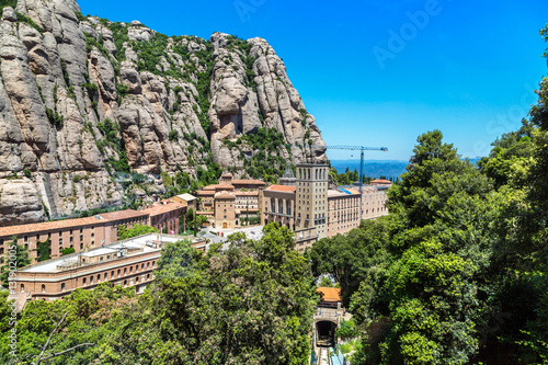 In de dag Centraal Europa Montserrat funicular railway