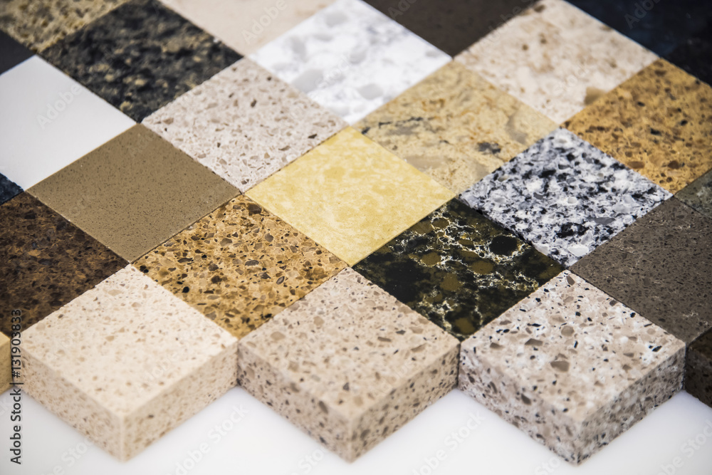 Fototapeta Granite counter tops for kitchen and bathroom surfaces