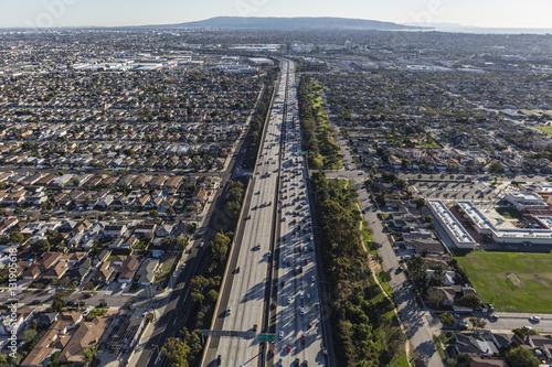 Zdjęcie XXL San Diego Freeway widok z lotu ptaka na południe w kierunku South Bay obszarze Los Angeles County.