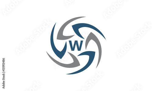 Photo Rotation Arrow Process Plan Boomerang Letter W