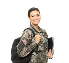 Pretty Female Cadet Of Militar...