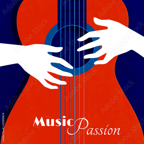 Fotografie, Tablou  Music Passion Poster