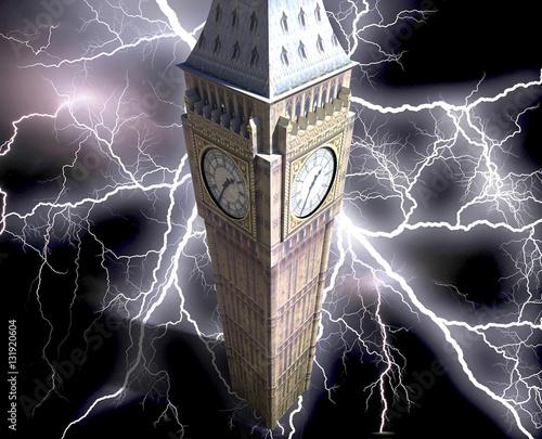 Fototapeta Big Ben przy nocy 3d renderingiem