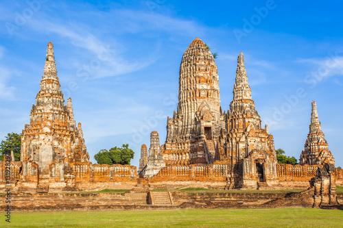 Photo temple de Wat Chai Watthanaram, Ayutthaya, Thaïlande