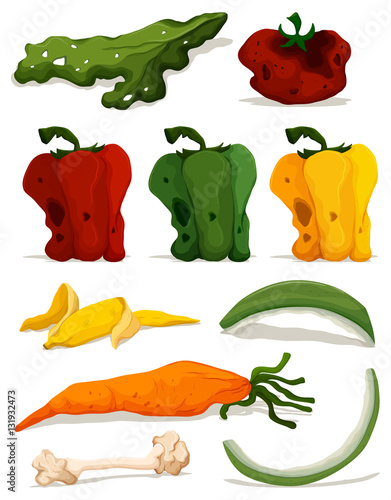 Stampe  Different types of rotten vegetables