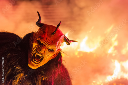 Carta da parati The Krampus mask