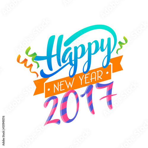 Modern Happy New Year 2017 Celebration Card Suitable For Invitation