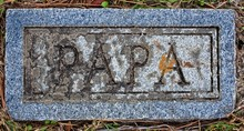 Tomball, TX USA - Dec. 27, 2016  -  This Cemetery Is A TX Landmark And Was Open In 1873.  There Are Four Grave Marker That Read PAPA, MAMA, FATHER & Mother.  There Was No Dates Or Names.