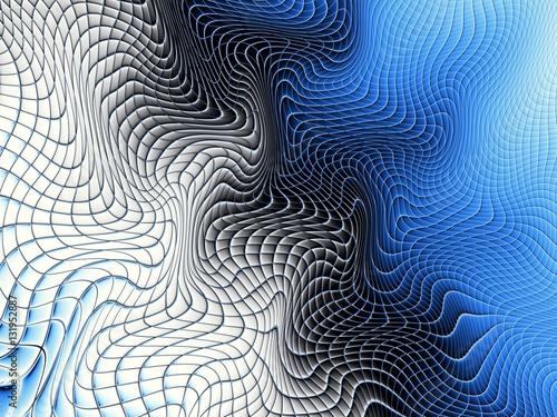 pofalowana-niebieska-siatka-geometryczne-tlo
