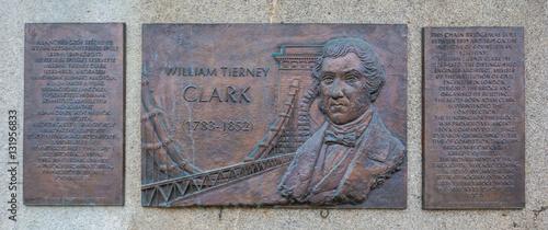 Tablou Canvas William Tierney Clark commemorative plaque near Chain Bridge in Budapest