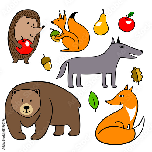 Wild Animals Drawing Images For Kids