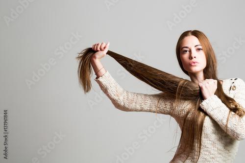 Fotografie, Obraz  pretty girl with long hair