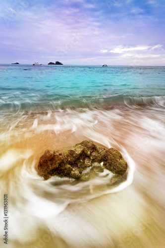 Colorful Morning Ocean Poster
