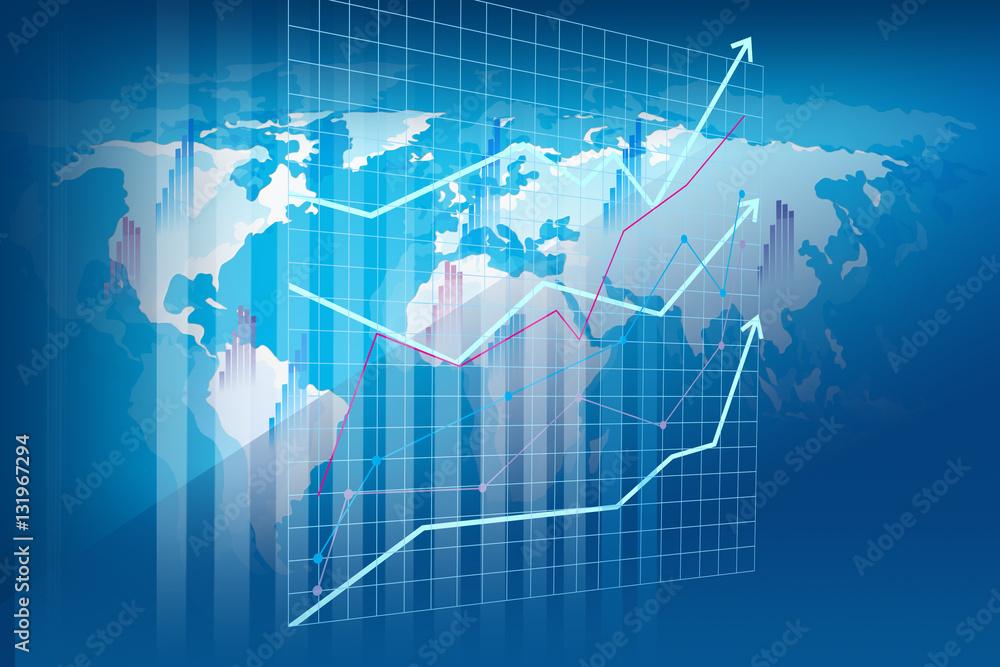 Fototapeta Raport rachunkowości i analizy finansowej - wizualizacja przestrzenna