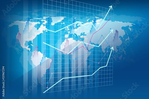 Fototapeta Raport rachunkowości i analizy finansowej - wizualizacja przestrzenna obraz
