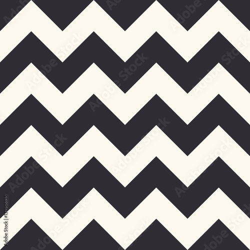 Fotografiet  Fashion zigzag pattern, seamless vector background