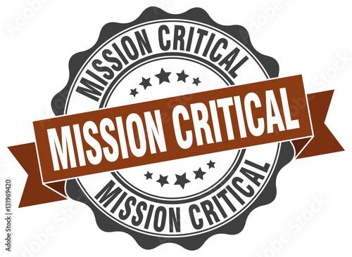 Fotografía  mission critical stamp. sign. seal