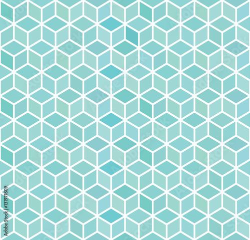abstrakta-3d-blekita-kwadrata-geometryczny-bezszwowy-wzor-ilustracji-wektorowych
