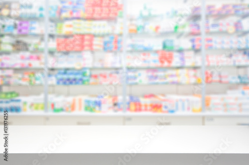 Poster Pharmacie Pharmacy drugstore background concept.