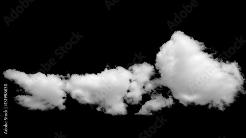 Canvas Prints Heaven Isolated white clouds on black background