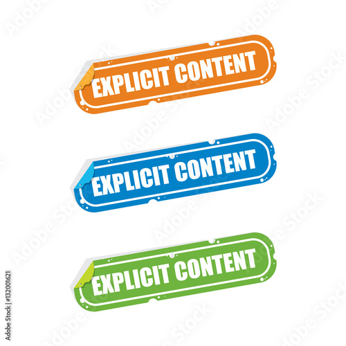 Photo  Explicit Content Sticker Labels