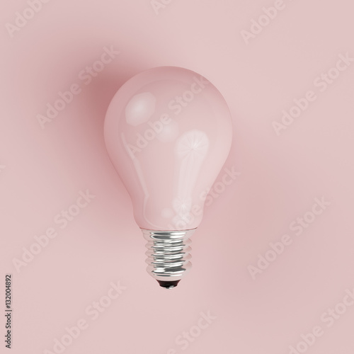 Photo  Pink pastel Light bulb on pink pastel background