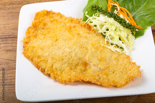 Photo  Fried Dory fish