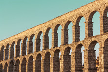 Photo Of Ancient Roman Aqueduc...