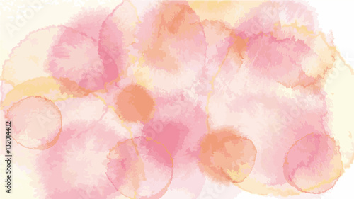 Photo  old rose pastel tone color vector background look like watercolor drop style