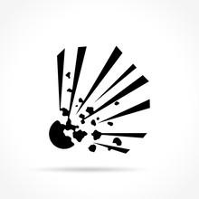 Explosive Icon On White Backgr...