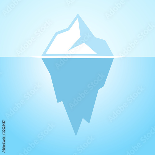 Iceberg vector icon Canvas Print
