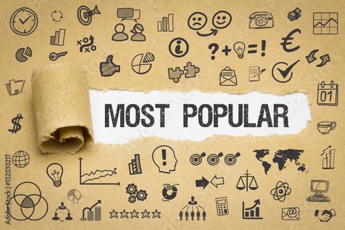 Fotografía  Most Popular Papier mit Symbole