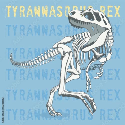 fajna skamielina szkielet dinozaura z hasłem, typografia