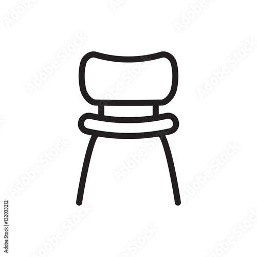 Obraz na płótnie chair icon illustration