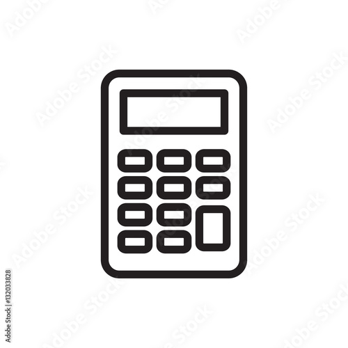 Fotografía  calculator icon illustration