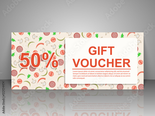 Gift Voucher Template Pizza Flyer Buy This Stock Vector And