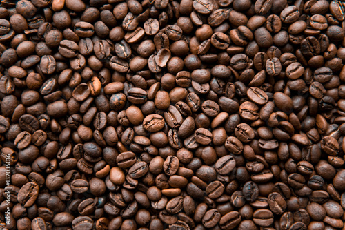 Café en grains roasted coffee beans, can be used as a background