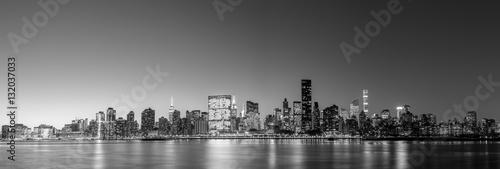 Fototapeten New York Midtown Manhattan skyline panoramic view
