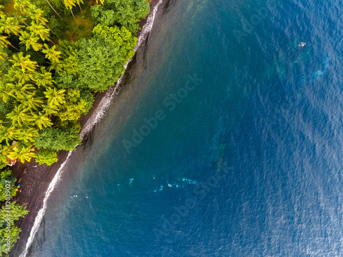 Poster Naufrage Aerial shot of USAT Liberty wreck Tulamben, Bali island, Indonesia