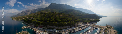 Fotografie, Obraz  Sailing Makarska Korcula Croatia Aerial Drone Photo