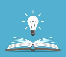 Open Book And Lightbulb