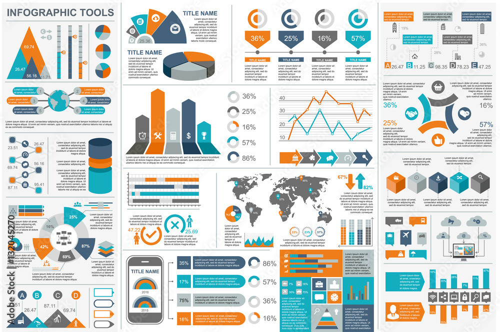 Fototapety, obrazy: Infographic elements vector