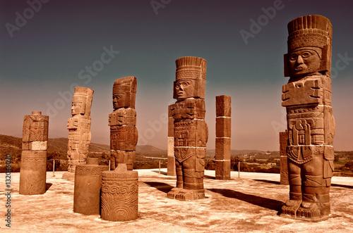 Foto op Aluminium Rudnes Atlantean figure in Tula. Mexico