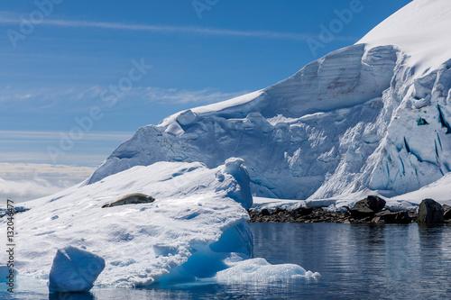 Autocollant pour porte Antarctique Eisberg in der Antarktis