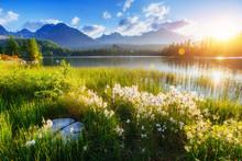 Majestic Mountain Lake In Nati...