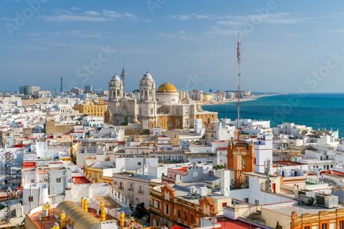 Cadiz. Aerial view of the city.